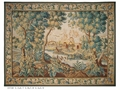 Aubusson Antique Fine Silk Weave Rectangle Embroidered Patchwork Printed Home Decorative Square