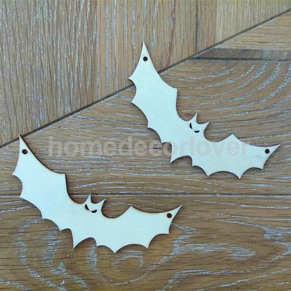 10x Unfinished Wooden Bat Shapes Craft House Decoration Hanger Diy In Party Decorations From Home Garden On Aliexpress Alibaba Group