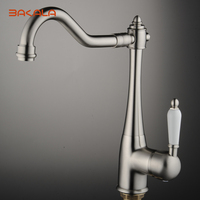 BAKALA Kitchen Faucet Brushed Nickel Kitchen Tap Mixer Brass Single Holder Single Hole Hot And Cold