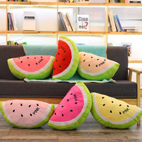Creative simulation watermelon plush stuffed pillow cushion soft conditioning blanket office nap sofa sleeping blanket