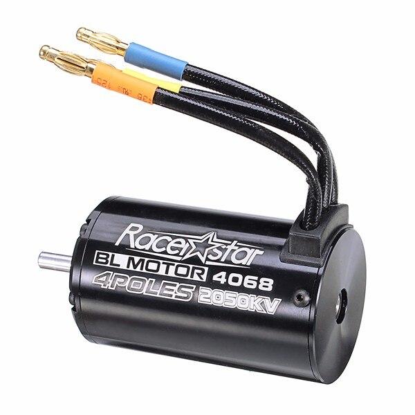 Racerstar 4068 Motor Brushless Waterproof Sensorless 1/8 RC Car Part 2650/2050/1900/1700KV