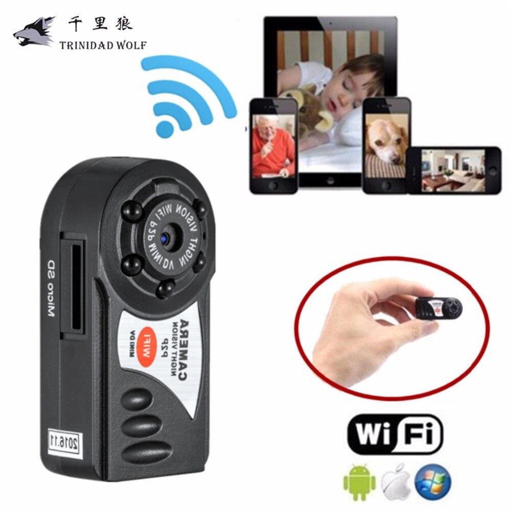 imágenes para Trinidad lobo q7 mini wifi dvr 720 p cámara de vídeo grabadora de cámara ip inalámbrica cámara de visión nocturna por infrarrojos motion detección