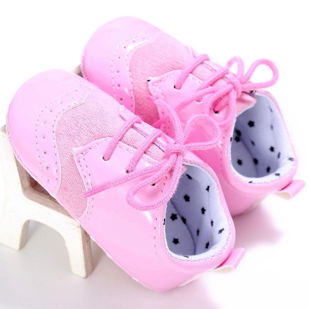 TELOTUNY Baby Infant Kids Girl boys Soft Sole Crib Toddler Newborn Shoes comfortable Artificial PU Soft Crib Shoes S3FEB23