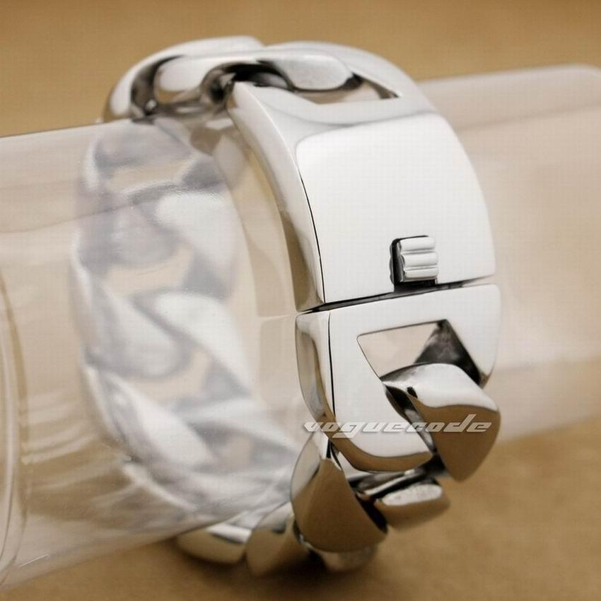 LINSION Huge Heavy 316L Stainless Steel Mens Linck Chain Biker Bracelet 5C004 Free Shipping sample order 8 2 heavy 316l stainless steel men boy s biker bracelet 5d002 length customizable