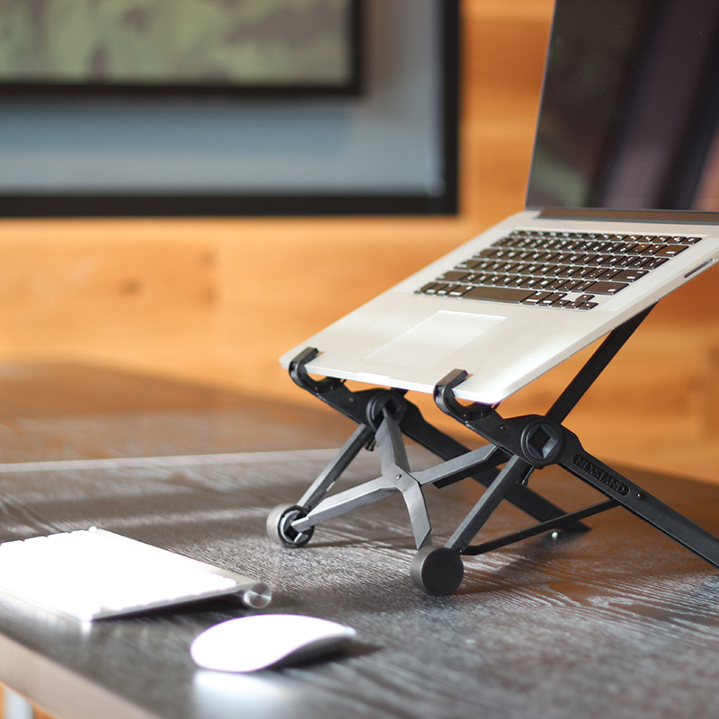 Foldable laptop lapdesk table pc stand support 11.6Inch or Larger size protection of cervical vertebra enhanced nylon