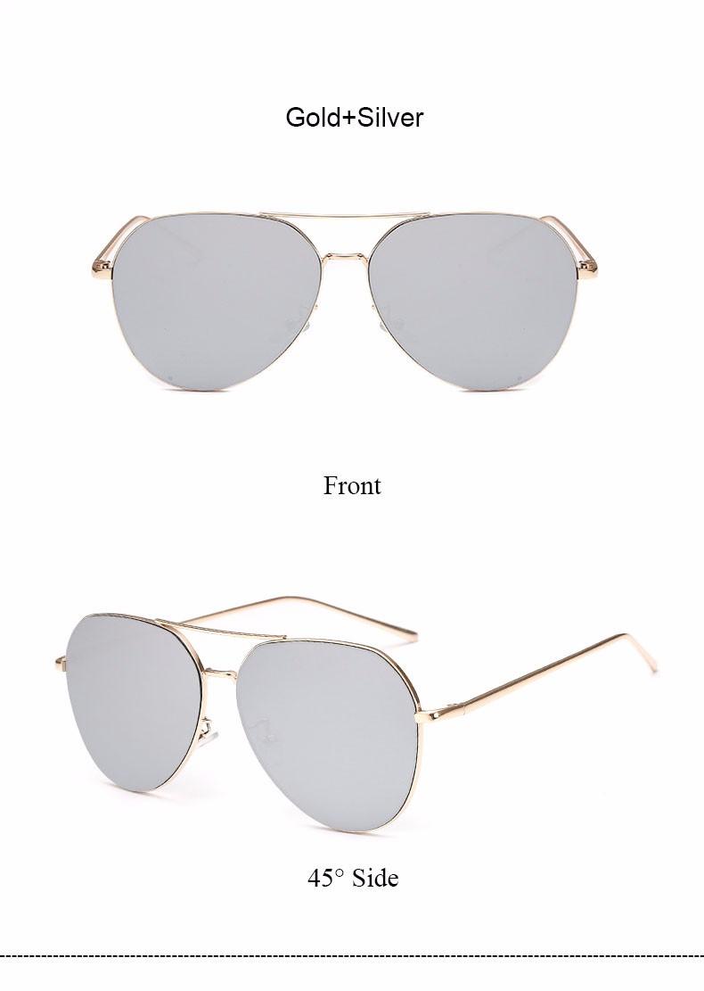 HTB1PPccNFXXXXX8aXXXq6xXFXXXB - Flat Lens Mirror aviation Sunglasses Women Stylish Sun Glasses PTC 296