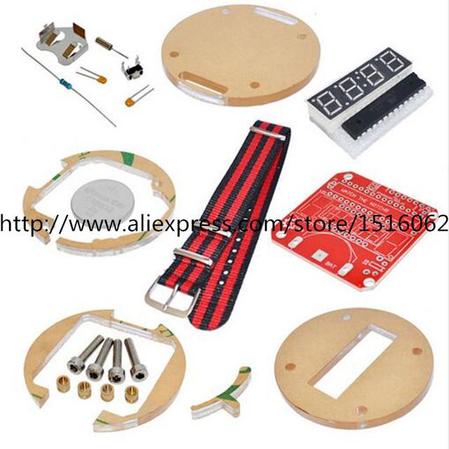 Dispositivos portátiles de BRICOLAJE reloj electrónico Programable relojes kit reloj electrónico kit diy