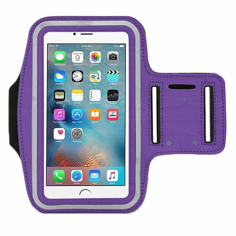 Wodoodporna siłownia sportowe opaska do biegania dla iphone Xs XR X 8 4 4S 5 5S 5c SE 6 6s 7 7s plus opaska na ramię etui na telefon