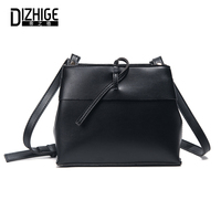 DIZHIGE Brand Designer PU Leather Women Bags High Quility Crossbody Bags For Women Fashion Solid Zipper