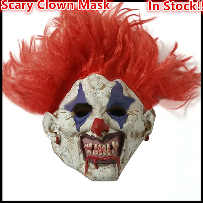 2016 Free Shipping Halloween Party Cosplay clown Horror Funny Full Face Latex Clown Mask for Costume Cosplay Party Halloween Toy image