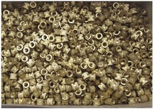 100PCS M5*5*6mm OD 6mm Brass Inserts Double Pass Copper Knurl Nut Embedded Fastener