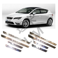 Suitable For SEAT LEON CUPRA 2010 2011 2012 2013 2014 2015 Stainless Steel Scuff Plate Door