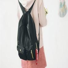 Пой корейский стиль Harajuku Стиль женщины рюкзак Колледж стиль однотонные мягкие Оксфорд рюкзак простой свежий школьный Повседневная дорожная сумка