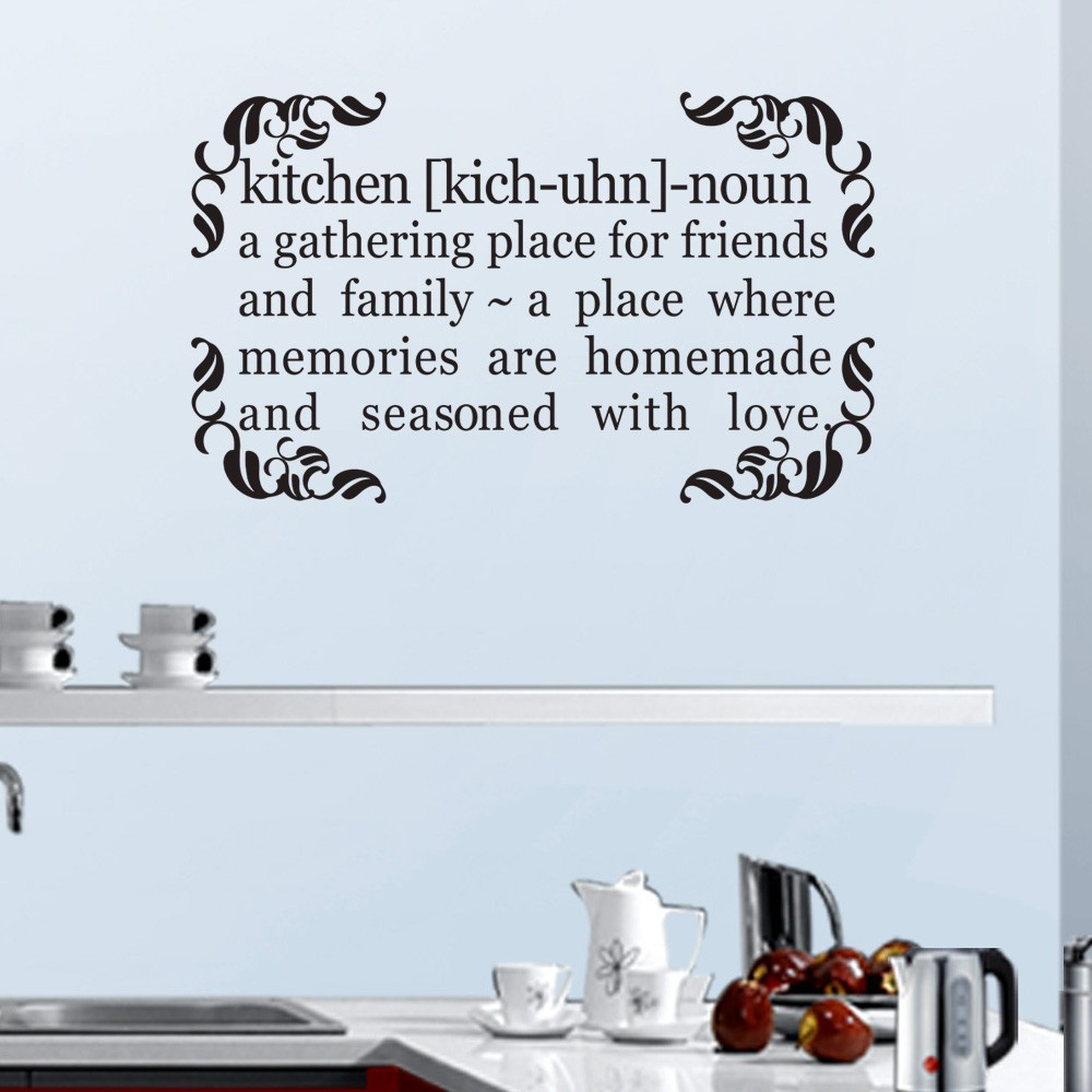 Dining Room Home Wall Decor Kitchen Family Love GATHER Vinyl Decal Sticker