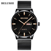 цена Top Brand Luxury Watches Men Stainless Steel Ultra Thin Watches Men Classic Quartz Men's Wrist Watch Relogio Masculino онлайн в 2017 году