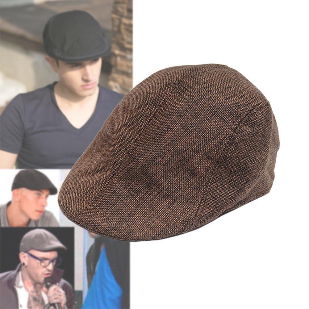 1x Fashion Casual Unisex Duckbill Cap Men Women Driving Sun Flat Cabbie  Newsboy Beret Hat Causal Gatsby Ivy Cap Coffee 50d777b4eed