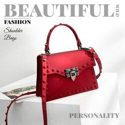 Auau-sacos de mensageiro feminino bolsas femininas designer saco de geléia moda bolsa de ombro bolsas de couro pvc