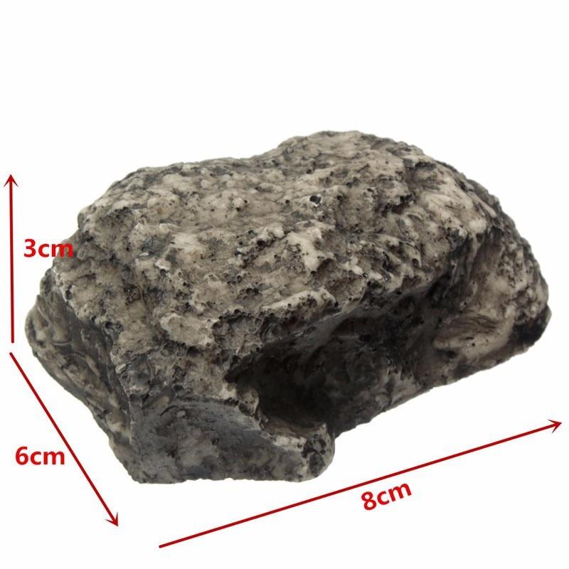 Outdoor Spare Key House Safe Hidden Hide Storage Security Rock Stone Case Box