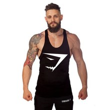 2017 New Clothing Fitness Undershirt Bodybuilding Men's Vest Sleeveless Tank Top DE003