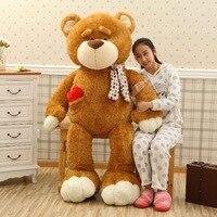 Очень большой 160 см шарф мишка тедди мягкая плюшевая игрушка коричневый медведь обнимающая подушка, Удивленный подарок на день рождения w5273