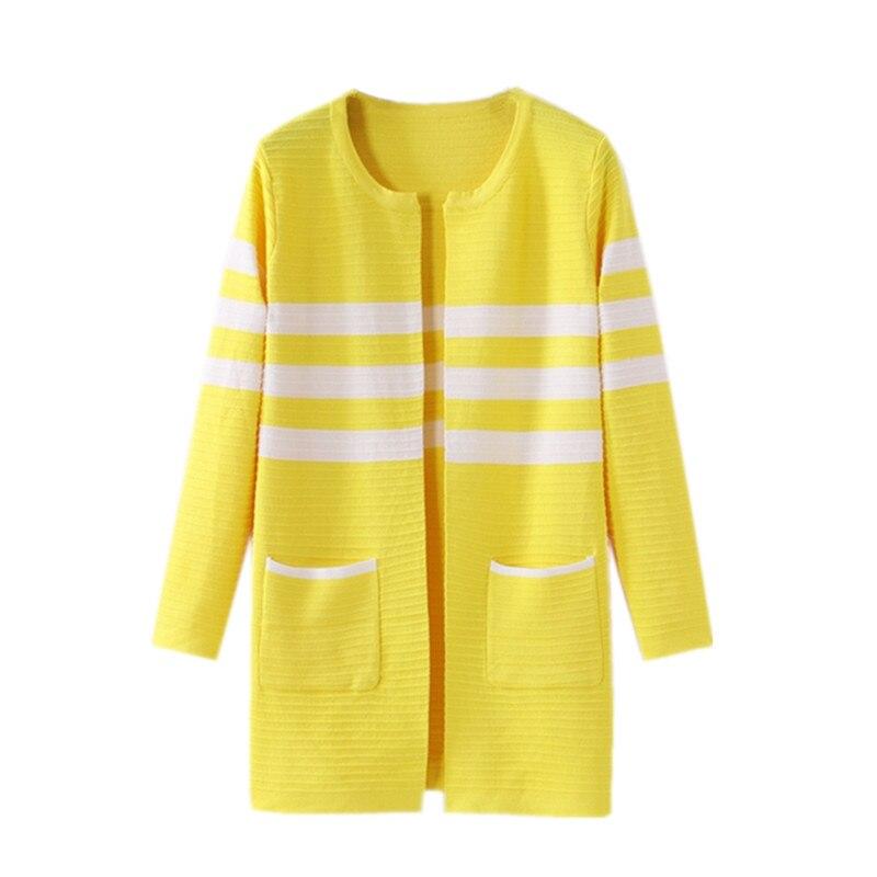 Spring/Autumn Women Sweater Cardigan Coat Jacket 2018New Fashion Striped Knit Tops Long Sleeve Sweaters Female Basic Coats AA229