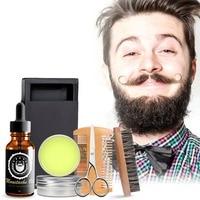 Beard Care Set Beard Oil Wax Beard Scissors and Comb Beard Brush Kit Moustache Care Kit