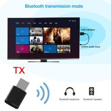 Hot 2 in1 Portable Bluetooth 5.0 Transmitter Receiver Mini 3.5mm AUX USB Wireless Stereo Audio Adapter for Home TV MP3/4 PC Car bluetooth 4 2 transmitter receiver 2 in 1 universal wireless audio adapter for phone pc home tv stereo 3 5mm audio usb