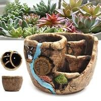 Succulent Plant Flowerpot Mini Garden Home Flower Pot Ceramic Crafts Decoration Planter Succulent Plants Pot Home Decor DIY