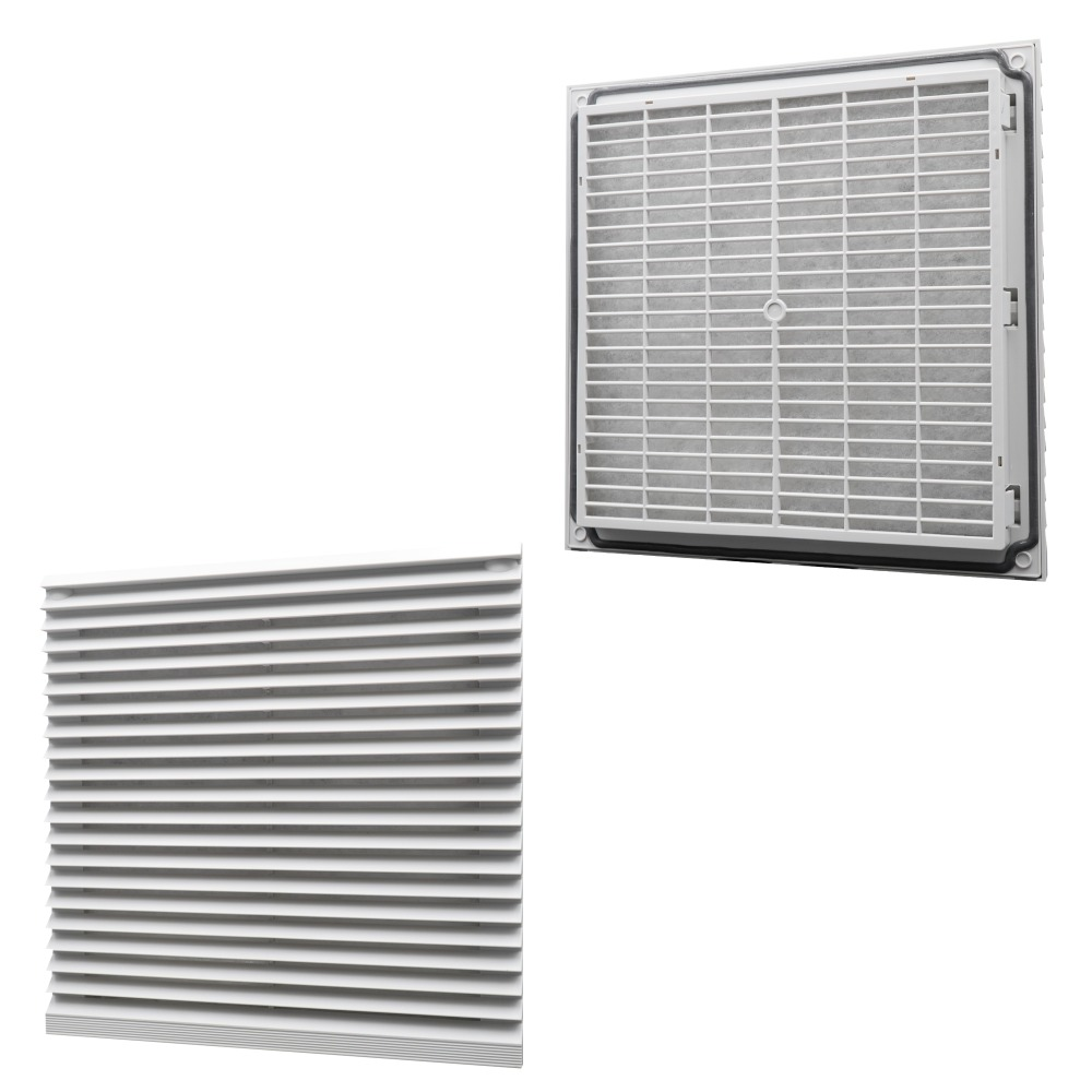 US $6 51 5% OFF|255mmx255mm Cabinet Ventilation Filter Set Shutters Cover  Fan Grille Louvers Blower Exhaust Fan Filter FK6625/FK3325 300-in Exhaust