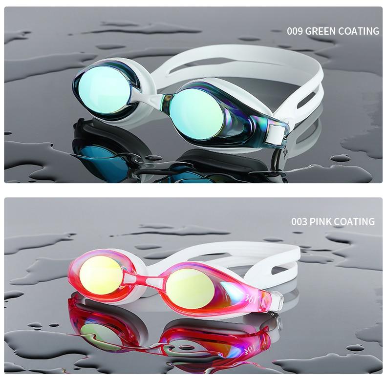 Unisex Professional Myopia Silicone Swimming Pool Glasses Anti Fog Waterproof 4