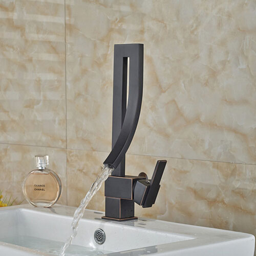 New Arrival Oil Rubbed Broze Basin Faucet Bath Vanity Sink Tap Hot&Cold Tap Single Handle
