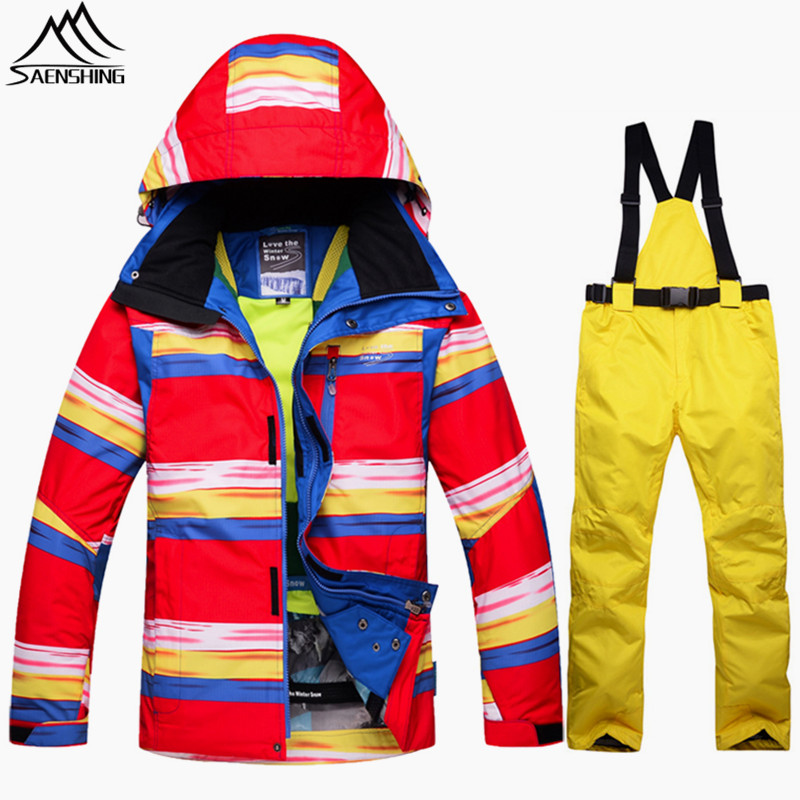 SAENSHING Warm Winter Ski Jacket Men Ski Suit Waterproof Breathable Snowboarding Suits Snow Outdoor Mountain Skiing Suit For Men цена и фото