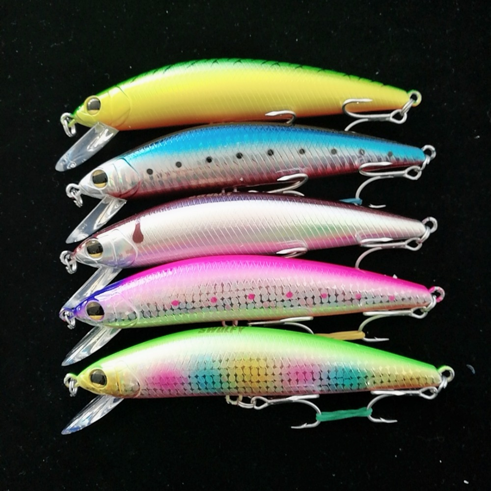 Swolfy 5pcs Sinking Minnow Lure 12cm 42.g Saltwater Fishing Lures 3D Eyes Plastic Hard Bait Jerkbait Artificial Fishing Wobblers wldslure 1pc 54g minnow sea fishing crankbait bass hard bait tuna lures wobbler trolling lure treble hook
