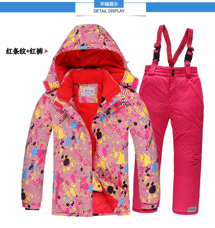 a0e70e2158 OLEKID -30 Degree Russia Winter Children Girls Sport Suit Waterproof Warm  Boys Jacket And Overalls Snowsuit 3-16 Years Ski Suit