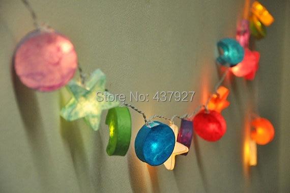 LightsStar Moon Paper String Light Fairy Light Bedroom Or - Star string lights for bedroom