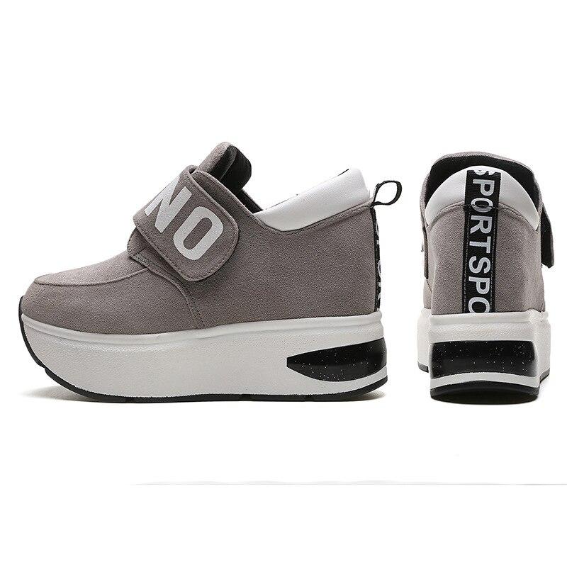 Femmes Hauteur Chaussures Sneakers Plate Dames Mode Plat Appartements Noir rouge Yx156 De forme Casual Doux Croissante gris IxwpAnXB