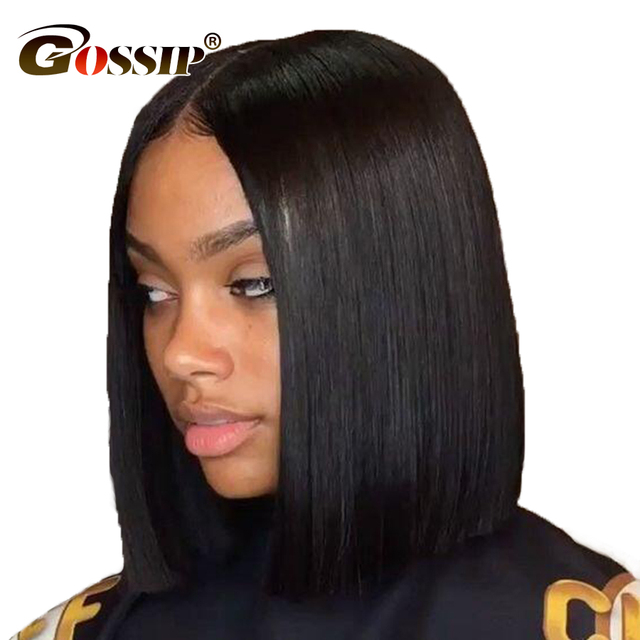 126 Lace Malaysian Straight Hair Short Wigs For Black Women