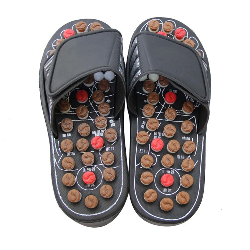 Sandal Reflex Massage Slippers Acupuncture Foot Massager Shoe Health Care a pair foot model foot reflex zone model foot acupuncture model chinese with instructions