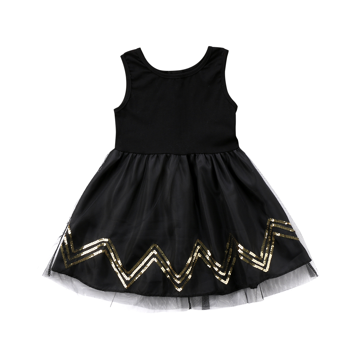 2018 Baby Girls Tutu Dress Lace Sleeveless Black Princess Party Pageant Striped Dresses Kids Casual Sundress Summer Clothes
