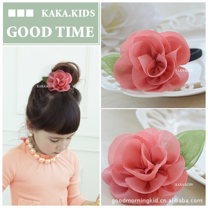 New Childrens Flower Colth Headdress Hair Rope Direct Headdress Tiara Princess Hair Ropes For Children Acessorio De Cabelo T