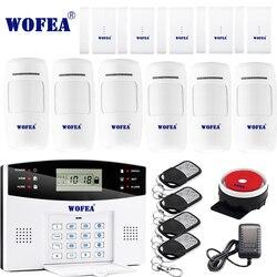 Бесплатная доставка Wofea IOS Android APP управление беспроводной домашней безопасности GSM сигнализация Система Двусторонняя Интерком SMS уведомлен...