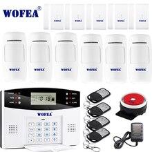 משלוח חינם Wofea IOS אנדרואיד APP שליטה אלחוטי אבטחת בית GSM מערכת אזעקה שני בדרך אינטרקום SMS הודעה עבור כוח off