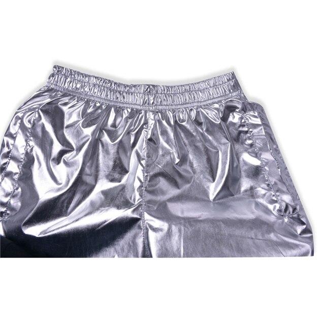 Fashion Men Shiny Metallic Shorts Night Club Dancing Wear Sexy Shorts Plus size 8XL Summer Motorcycle Metallic Short Pants X9097 6