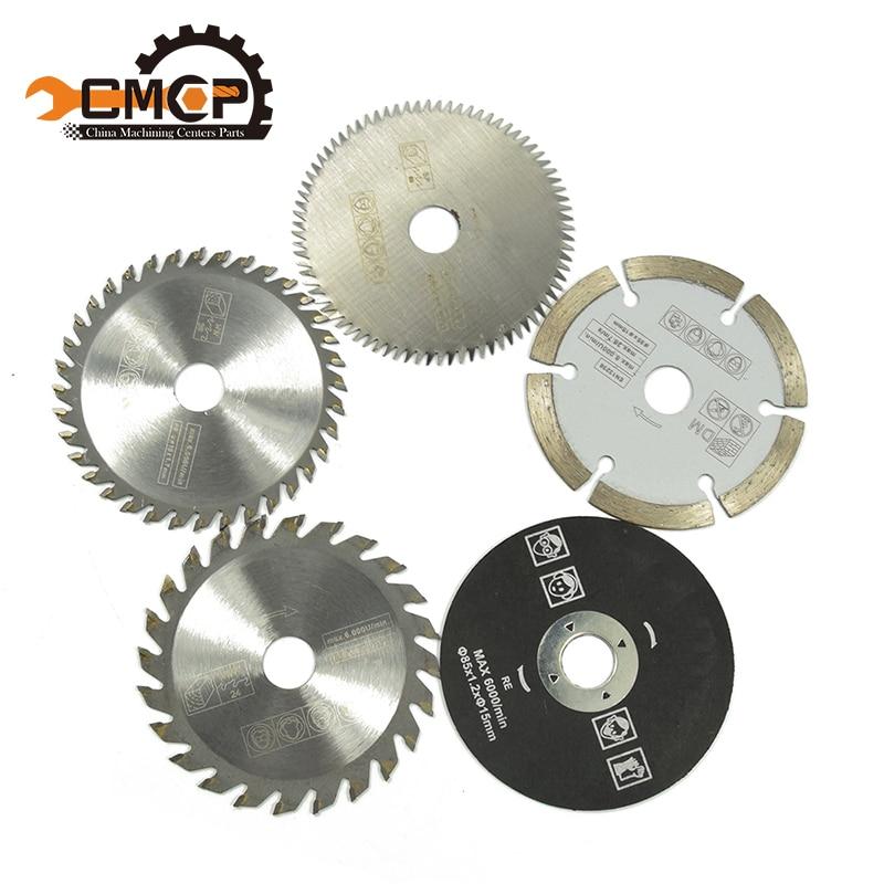 5 piezas 85mm herramienta de corte para las hojas de sierra de herramienta de poder de hoja de sierra circular sierra HSS dremel cortador circular