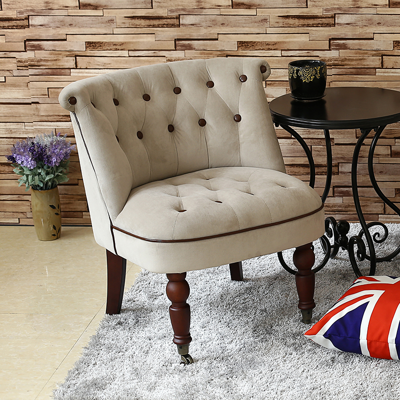 2019 Promotion Lift Seats Single Sofa Chair Nordic Mini Bedroom Coffee Shop Double Personality Balcony Milk Tea American Small