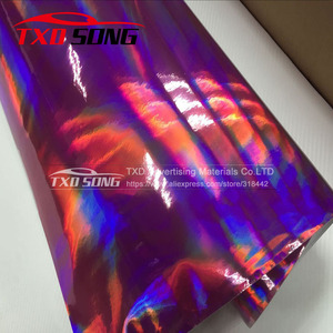 Image 5 - TXD ホット製品ホログラフィック虹フィルム箔車ラップビニール 20*149 センチメートル/ロット送料無料