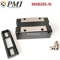 10pcs Original Taiwan PMI MSB20S MSB20S N MSB20SSSFC N linear guideway slide block Carriage for CO2 laser machine CNC router