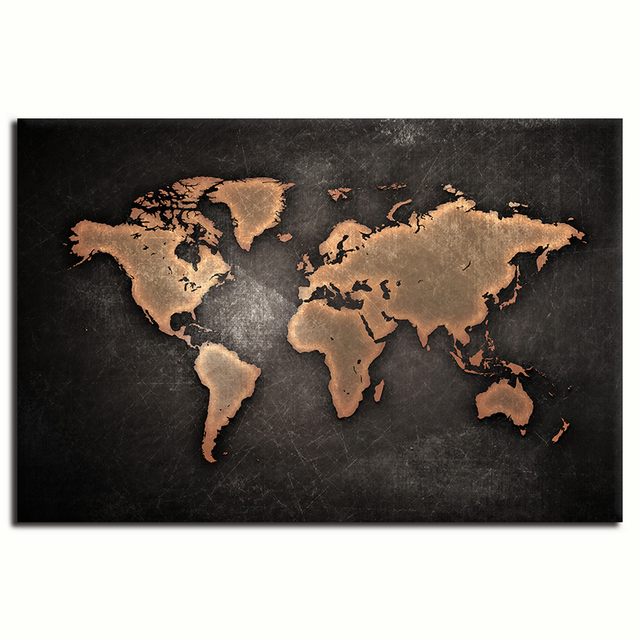 One pieces world map poster hd canvas prints paintings abstract one pieces world map poster hd canvas prints paintings abstract world map wall decor art for gumiabroncs Images