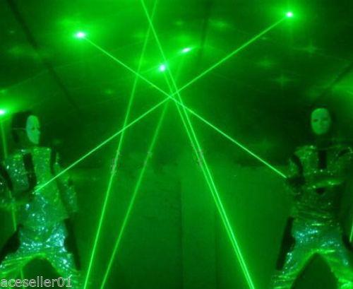 2 Lens handheld 100mW 532nm Green Laser Sword Fat Beam Lazer Display Laser Man Laser Dance