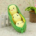 10inch Cute Kawaii Kids Baby Plant Pea Plush Toy Doll Girlfriend Kawaii Gift,1pcs/pack